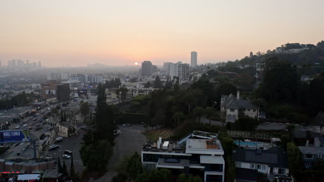 hollywood sunset boulevard - west hollywood stock videos & royalty-free footage