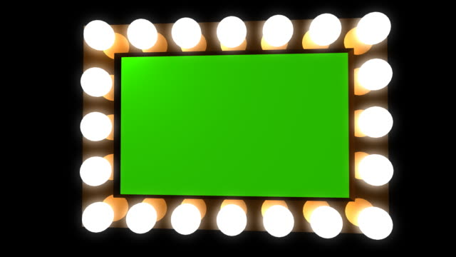 hollywood vanity mirror bulbs green screen - mirror object stock videos & royalty-free footage