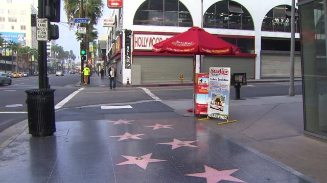 hollywood walk of fame on october 21 2013 in hollywood california - walk of fame stock videos & royalty-free footage