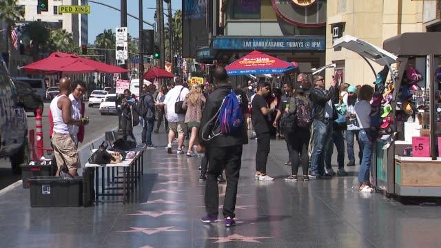 ktla hollywood walk of fame - b roll stock videos & royalty-free footage