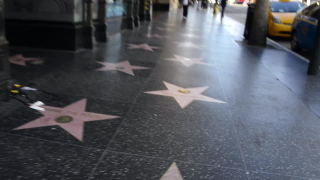 vidéos et rushes de hollywood walk of fame - hollywood boulevard