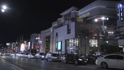 hollywwod blvd at night - the dolby theatre stock videos & royalty-free footage