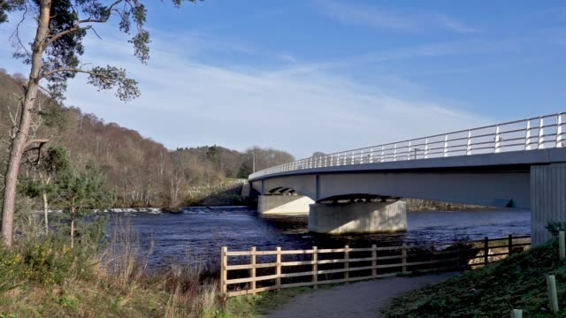 holm mills bridge over river ness inverness, scotland, uk - inverness scotland stock videos & royalty-free footage