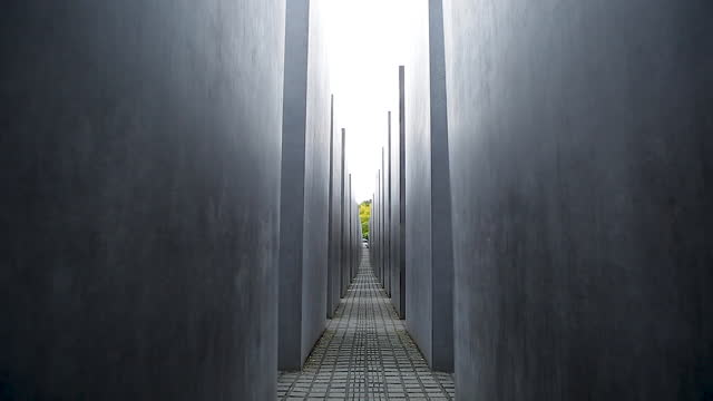holocaust memorial (memorial to the murdered jews of europe) / berlin, germany - narrow stock videos & royalty-free footage
