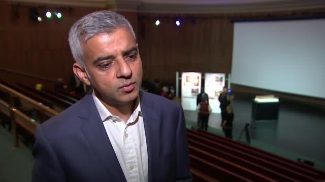 Holocaust memorial design announced ENGLAND London Kensington Victoria and Albert Museum INT Sadiq Khan with David Adjaye Sadiq Khan interview SOT