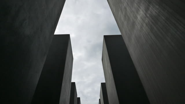 holocaust memorial in berlin, germany - block shape stock videos & royalty-free footage