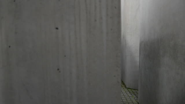 holocaust memorial in berlin, germany - genocide stock videos & royalty-free footage