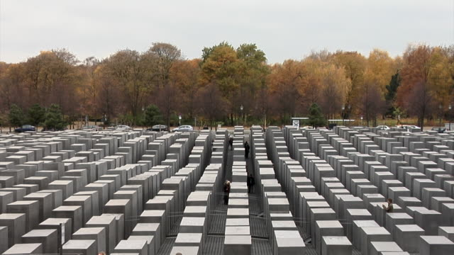 vidéos et rushes de holocaust museum berlin - mémorial