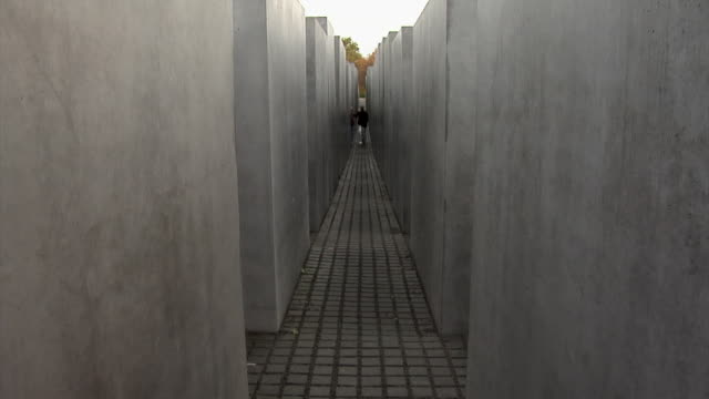 holocaust museum berlin - narrow stock videos & royalty-free footage