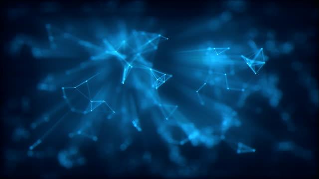 vídeos de stock, filmes e b-roll de fundo holograma - teia de aranha