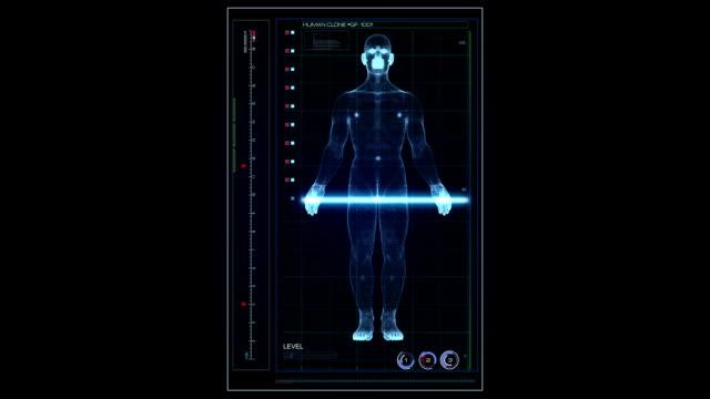 Hologram scanning human UI