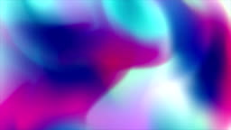 Holographic liquid flowing waves abstract video animation