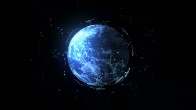 holographic projection of planet earth - holographic stock videos and b-roll footage