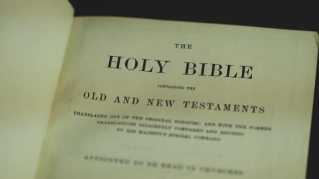 holy bible - christianity stock videos and b-roll footage
