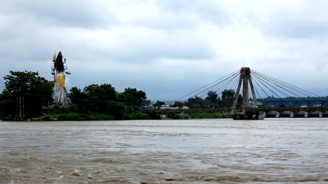 holy ganges river, haridwar over cloudscape, india - monsoon stock videos & royalty-free footage