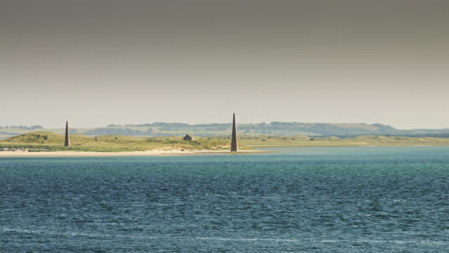holy island obelisks - holy water stock videos & royalty-free footage