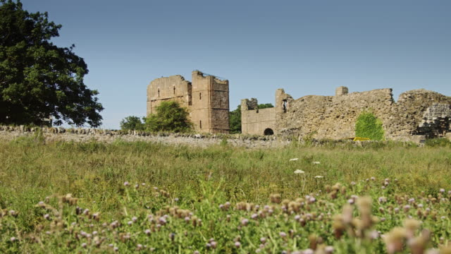 holy island priory - northumberland stock videos & royalty-free footage