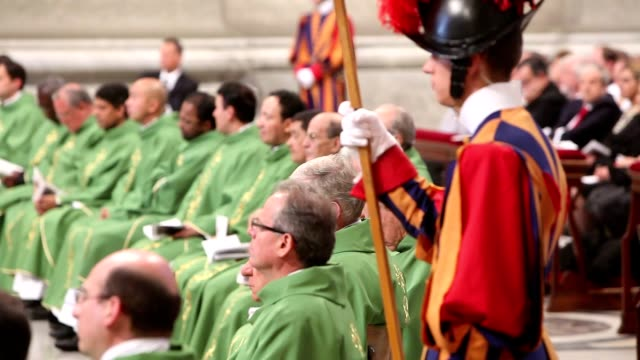 holy mass for the closing of the synod of bishops on october 28, 2012 in vatican city, vatican - synod stock videos & royalty-free footage