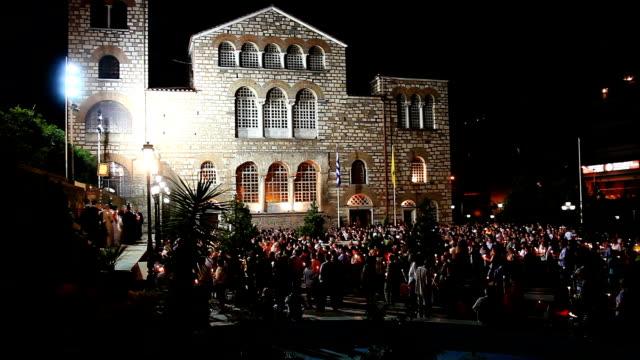 holy resurrection at the church of saint demetrius - resurrection religion stock videos & royalty-free footage