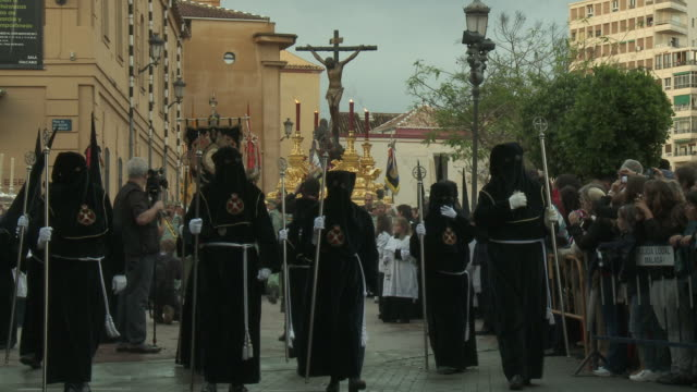 MS Holy week procession AUDIO / Malaga, Andalusia, Spain