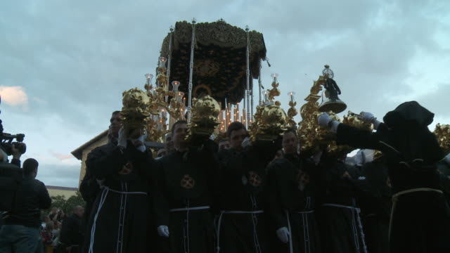 ms holy week procession audio / malaga, andalusia, spain        - holy week stock videos & royalty-free footage
