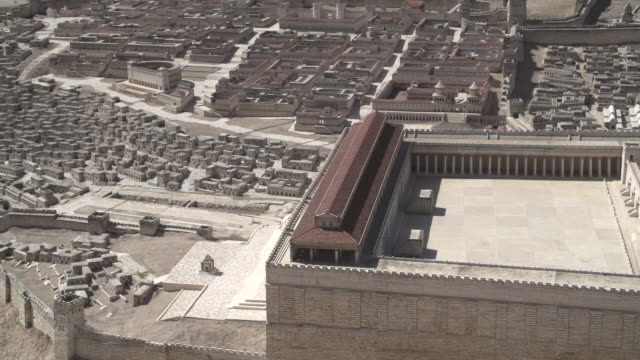 holyland model of jerusalem 1 - jerusalem stock videos & royalty-free footage