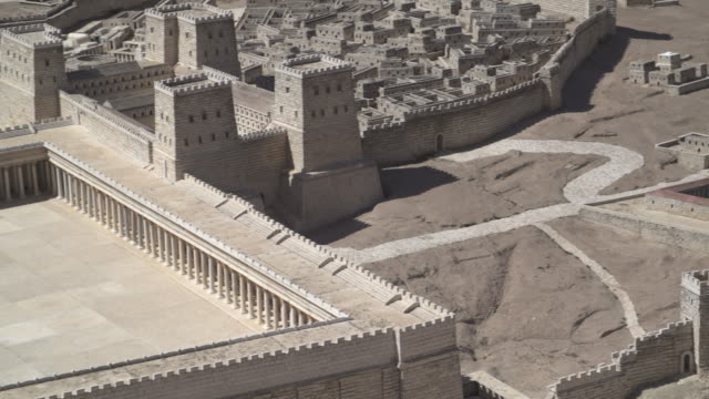 vidéos et rushes de holyland model of jerusalem 2 - temple