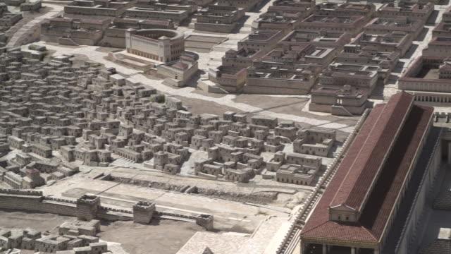 vidéos et rushes de holyland model of jerusalem 6 - temple