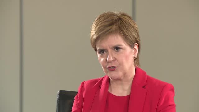 nicola sturgeon interview; ** part 3 of 4 ** scotland: glasgow: int nicola sturgeon msp interview continued sot - re record on dug deaths in scotland... - politics video stock e b–roll