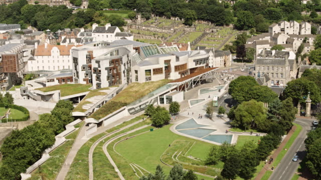 holyrood from above - edinburgh scotland stock videos & royalty-free footage