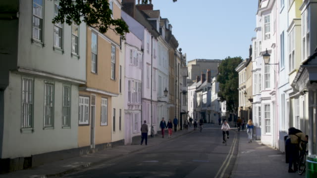 holywell street. oxfrod. - oxford england stock videos & royalty-free footage