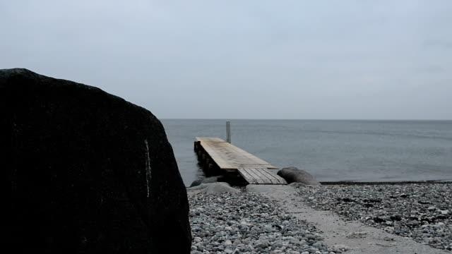 Holzsteg eine der Ostsee