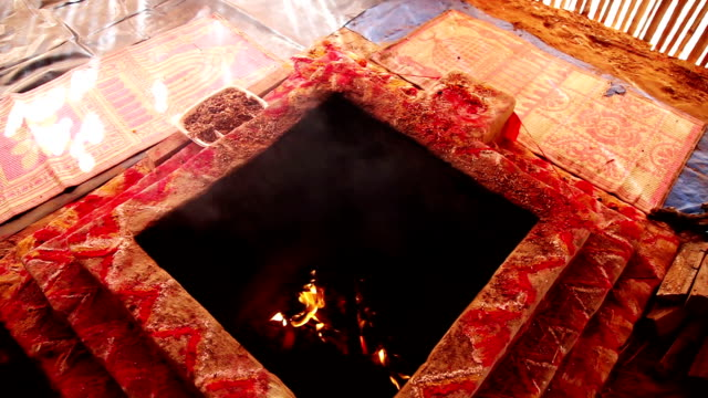 homa havan ritual according to vedic tradition - nuclear blast stock videos and b-roll footage