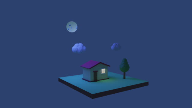 home all day and night - animation moving image stock videos & royalty-free footage