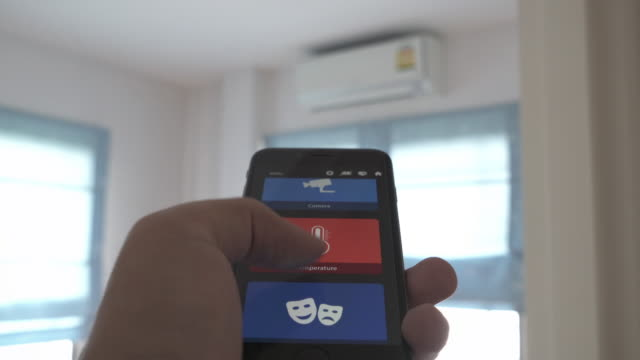 home automation air conditioner - air duct stock videos & royalty-free footage