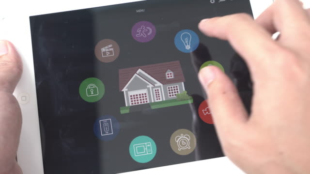 Home Automation und smart-home-Technologie-Kontrollleuchte