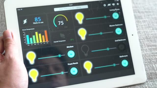 ホームオートメーション、スマートホームテクノロジー - control点の映像素材/bロール