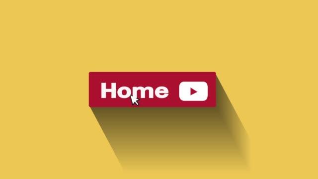 vidéos et rushes de home button motion graphique et animation - engagement des clients