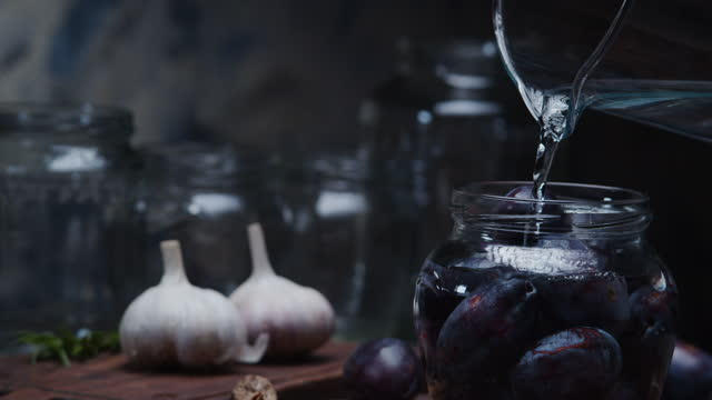 home canning - plum stock videos & royalty-free footage