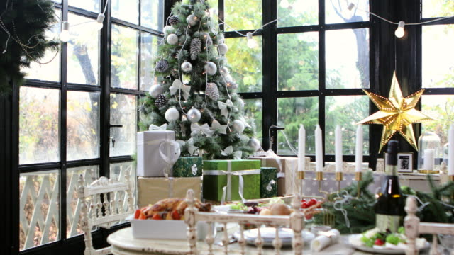 home christmas decoration - christmas decoration stock videos and b-roll footage
