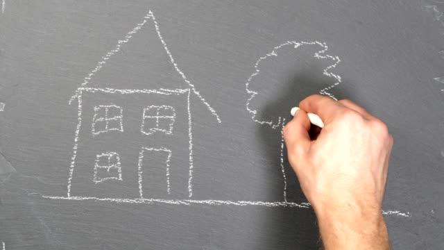 wohnkonzept - immobilienschild stock-videos und b-roll-filmmaterial