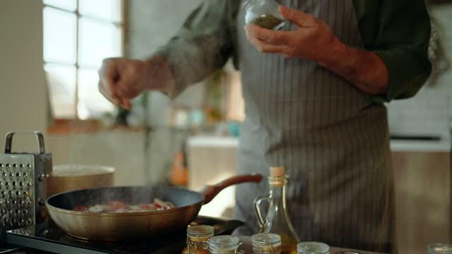 home cooking - seasoning stock videos & royalty-free footage