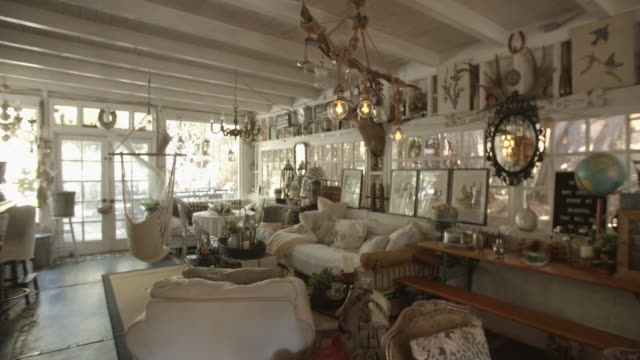 ws home filled with antiques and collectables - antique stock videos & royalty-free footage