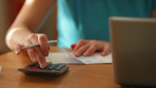 home financial expenses - financial bill stock videos and b-roll footage