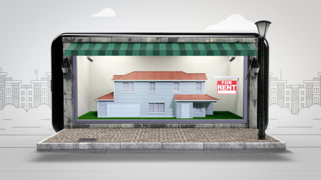 home for rent real estate - alpha channel - 4k resolution - classified ad stock videos & royalty-free footage