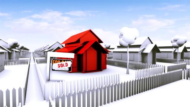 vidéos et rushes de maison à vendre-rouge - problème de logement