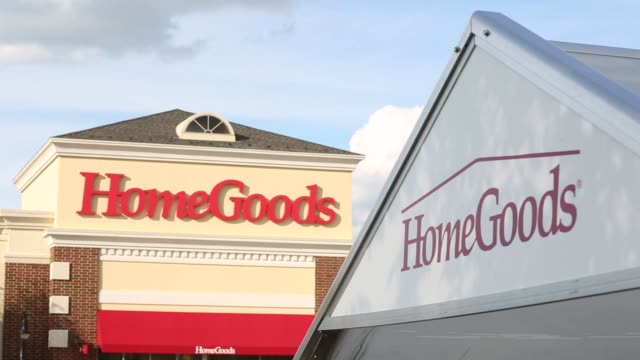 Home Goods exteriors shot in Peoria Illinois on Sunday Aug 14 2016 Shots shot of cart area and building with Homegoods signage tighter shot of same...