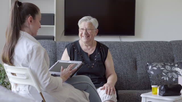 home healthcare - wide shot stock videos & royalty-free footage