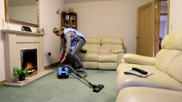 home help for the elderly - vacuum cleaner stock videos & royalty-free footage