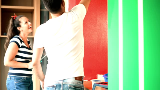 home improvement. - paint roller stock videos & royalty-free footage
